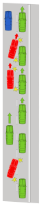 example of cars failing to give way